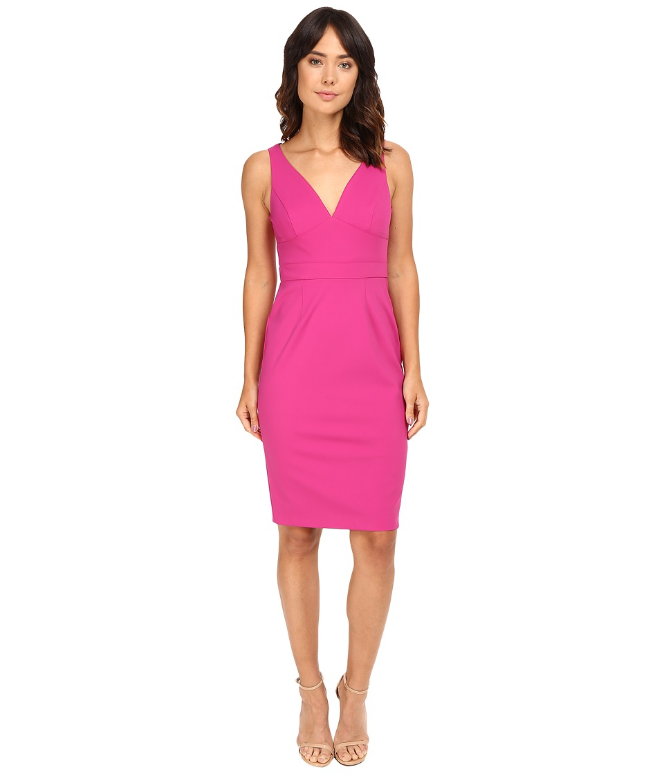 Adrianna Papell - Cut Out Neoprene Column Dress (Pink) Women's Dress