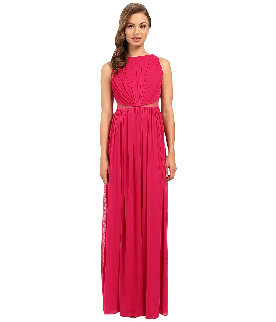 Adrianna Papell - Rouched Halter Gown (Fuchsia) Women's Dress