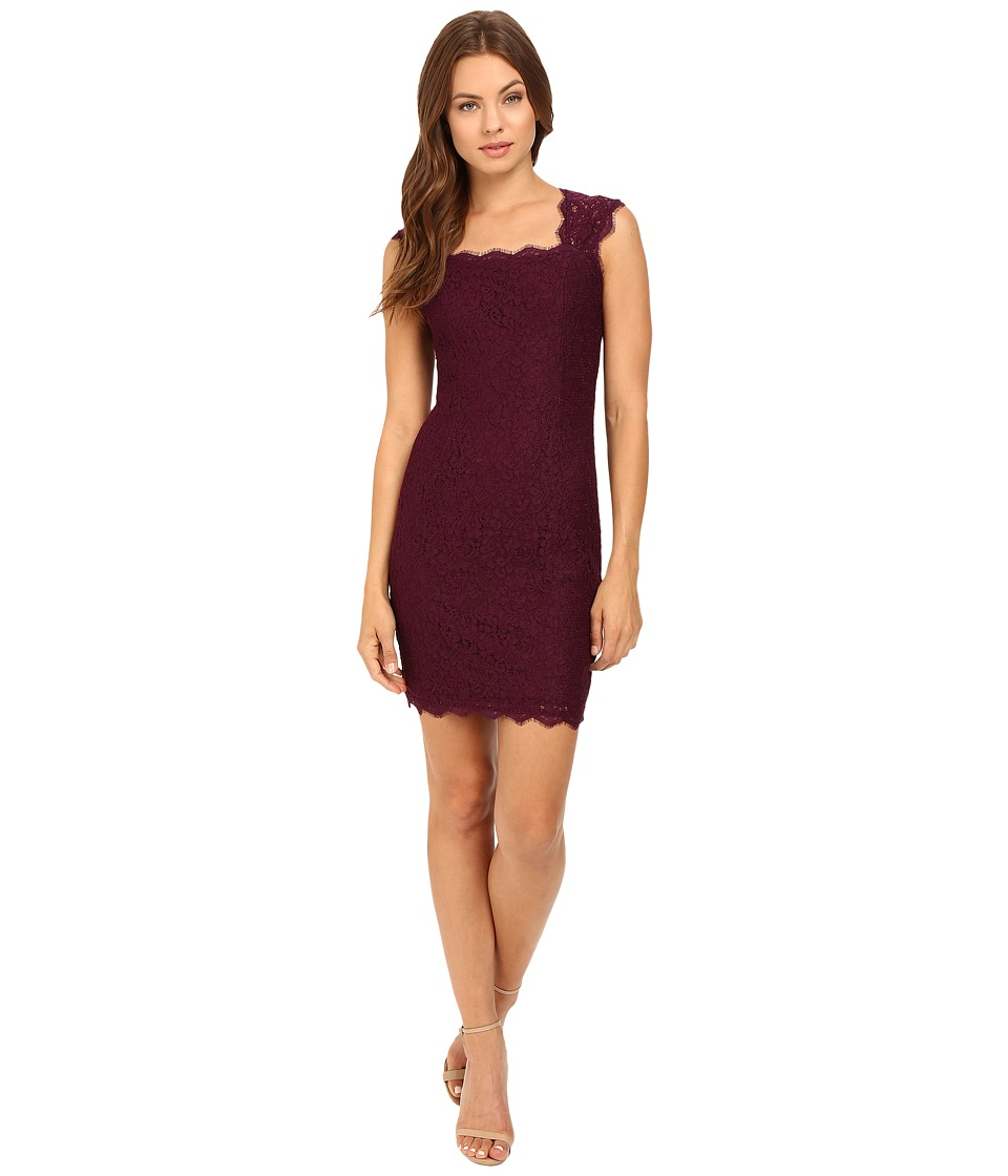 Adrianna Papell Cap Sleeve Lace (Mulberry) Women