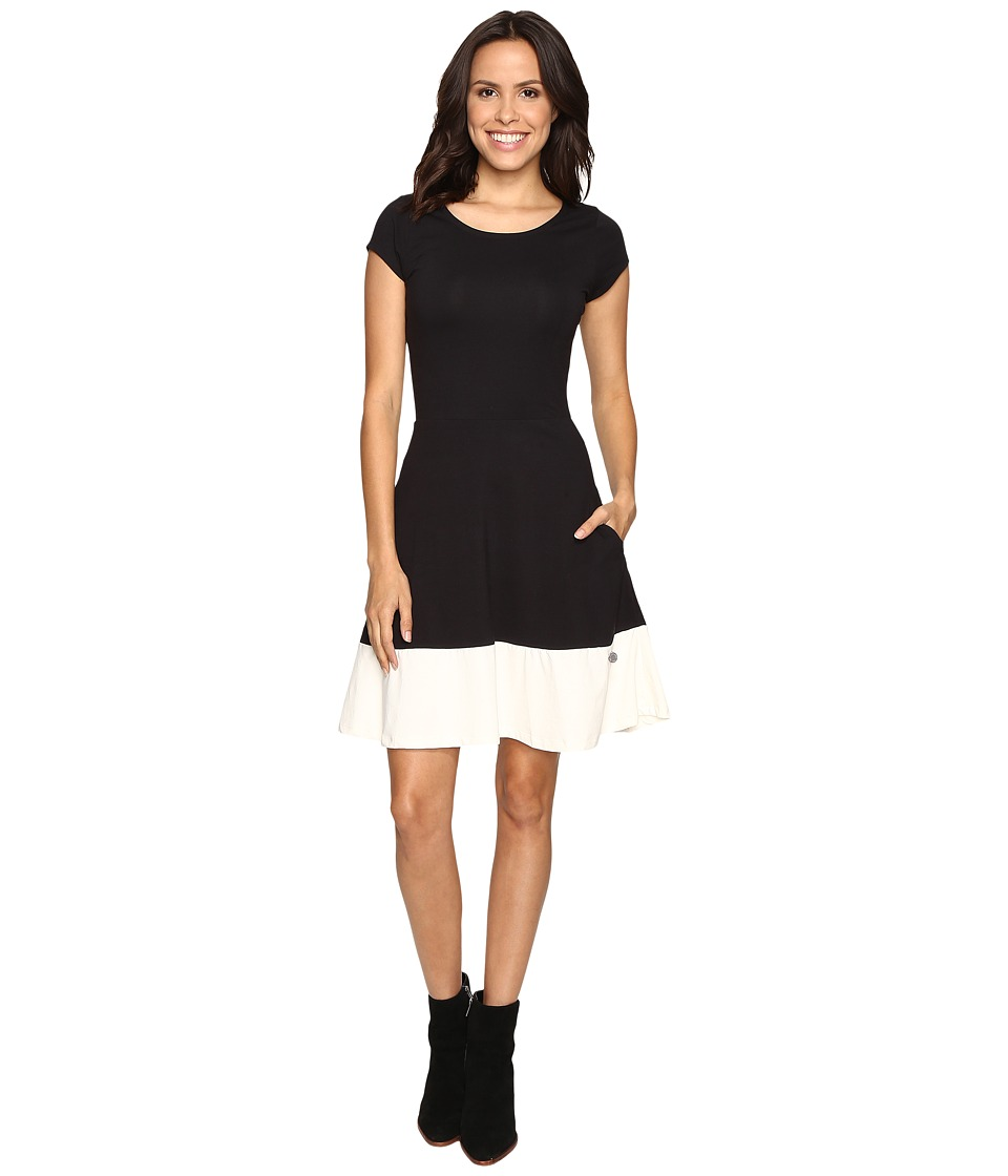 U.S. POLO ASSN. - Fit and Flare Dress (Anthracite) Women's Dress