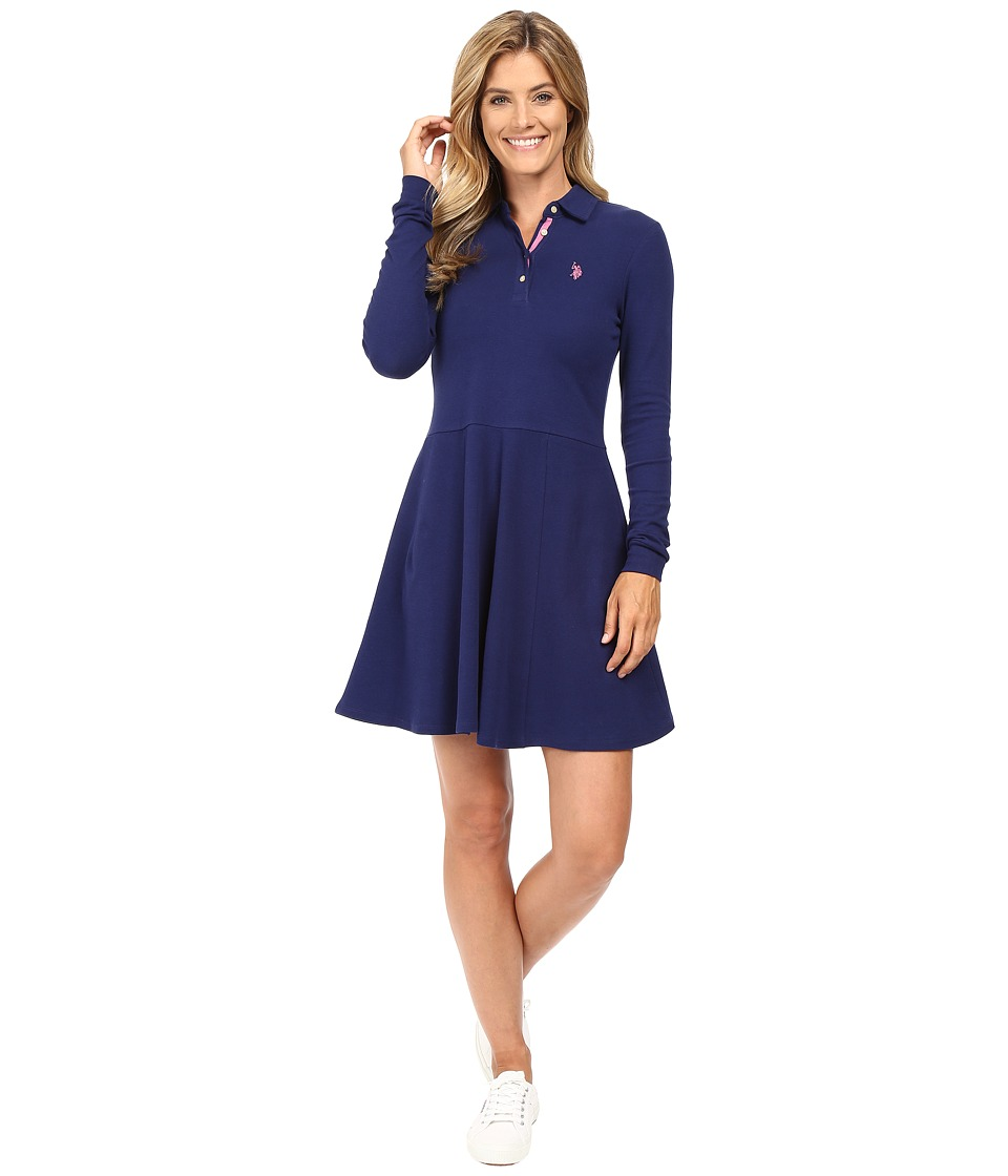 U.S. POLO ASSN. - Swing Dress (Medieval Blue) Women's Dress