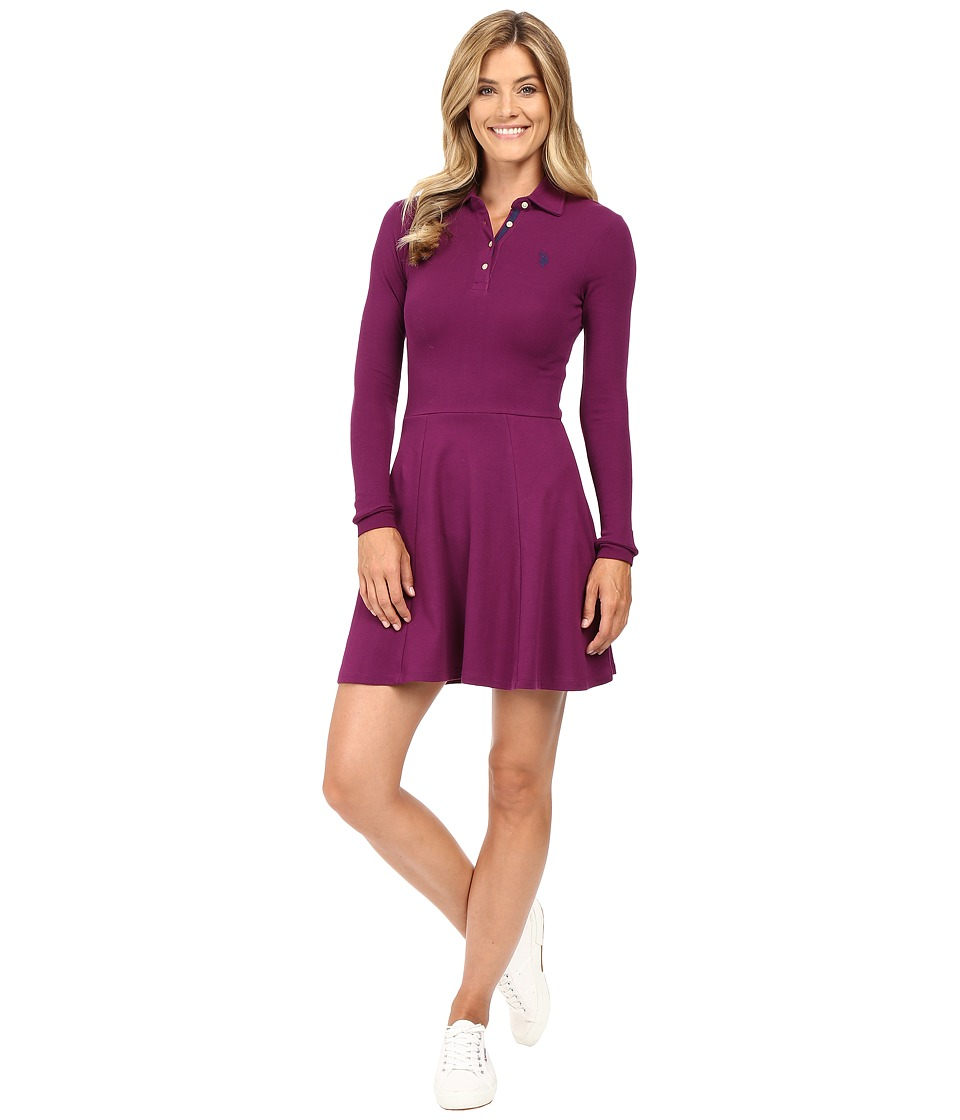 U.S. POLO ASSN. - Swing Dress (Merlot Wine) Women's Dress