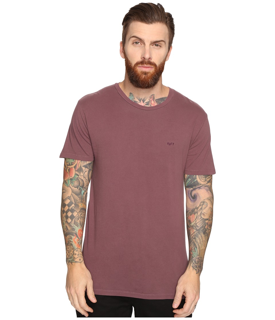 Obey - Jumbled Short Sleeve Pigment Tee (Deep Burgundy) Men's T Shirt