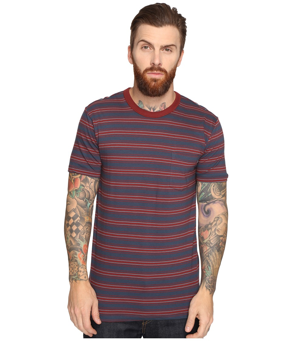 Obey Logan Pocket Tee (Blue Multi) Men