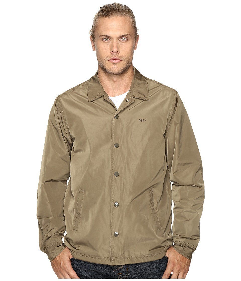 Obey - Baker Graphic Jacket (Dusty Army) Men's Coat