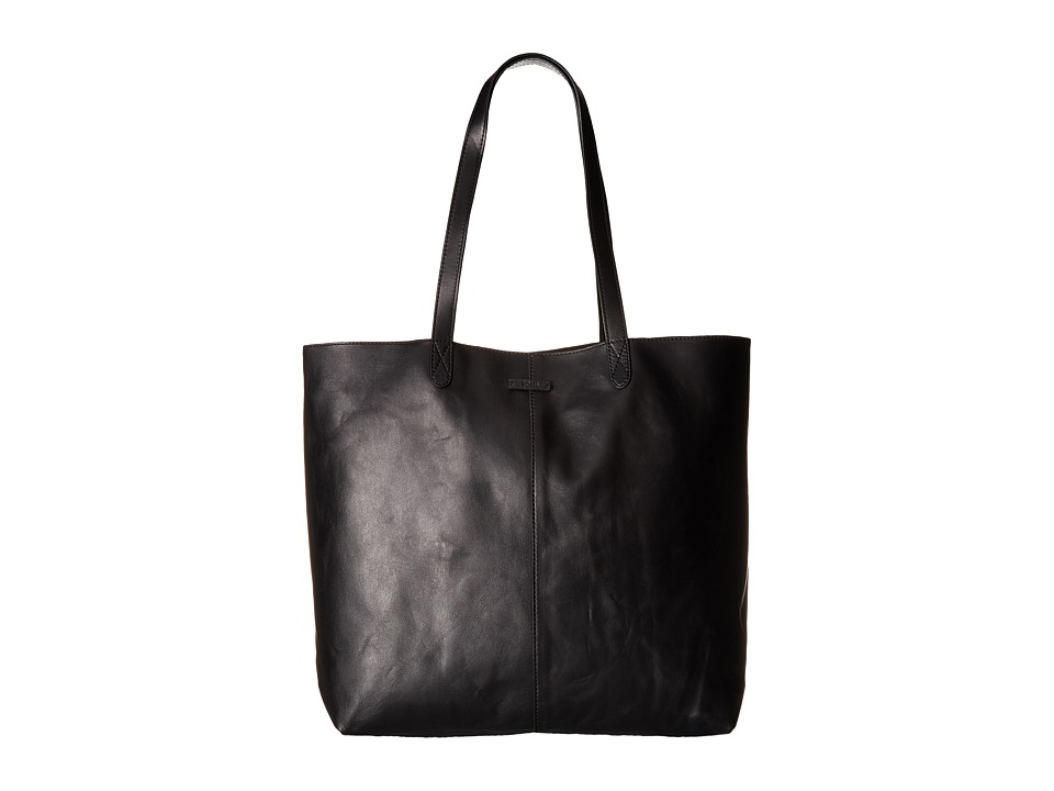 TOMS - Matte Leather Tote (Black) Tote Handbags