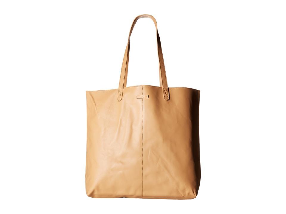 TOMS - Vacchetta Matte Leather Tote (Natural) Tote Handbags