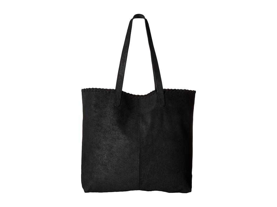 TOMS - DSL Leather Tote (Black) Tote Handbags