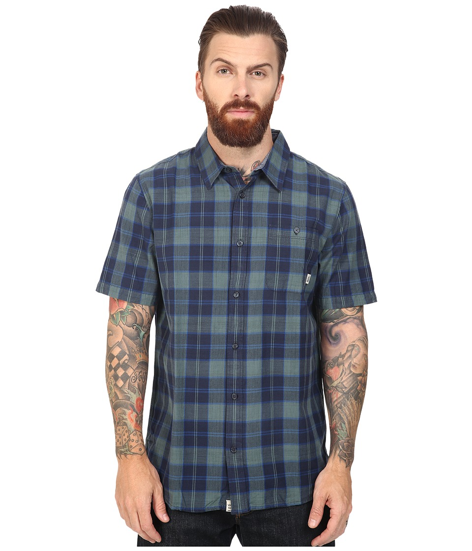 Vans - Chatwin Short Sleeve Woven (North Atlantic/Dress Blues) Men's Clothing