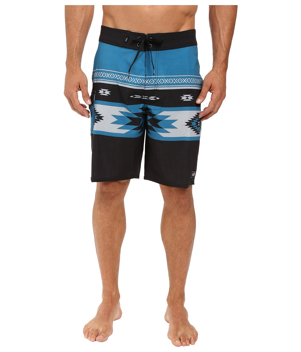 Vans - Cayucos Boardshorts (New Charcoal True Native Stripe) Men's Swimwear