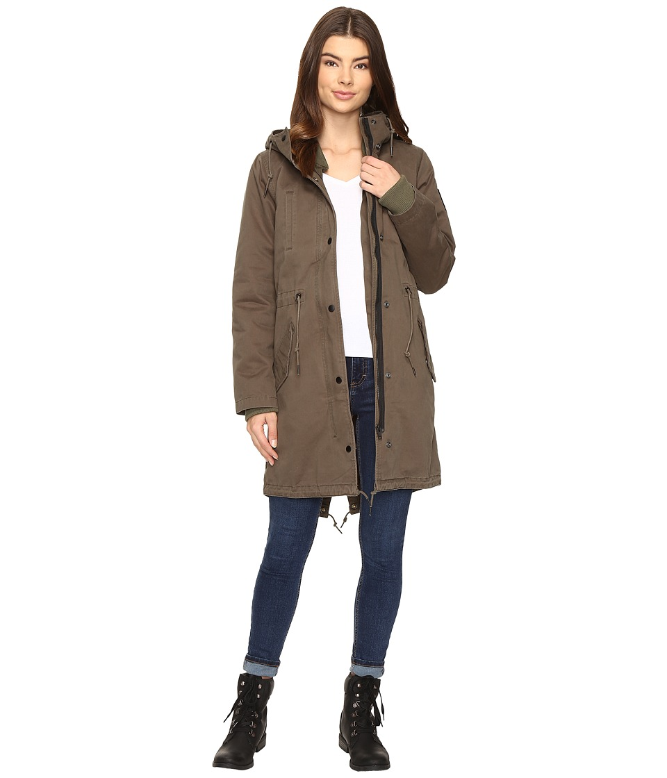 Obey - Saxon Parka (Military Olive) Women's Coat