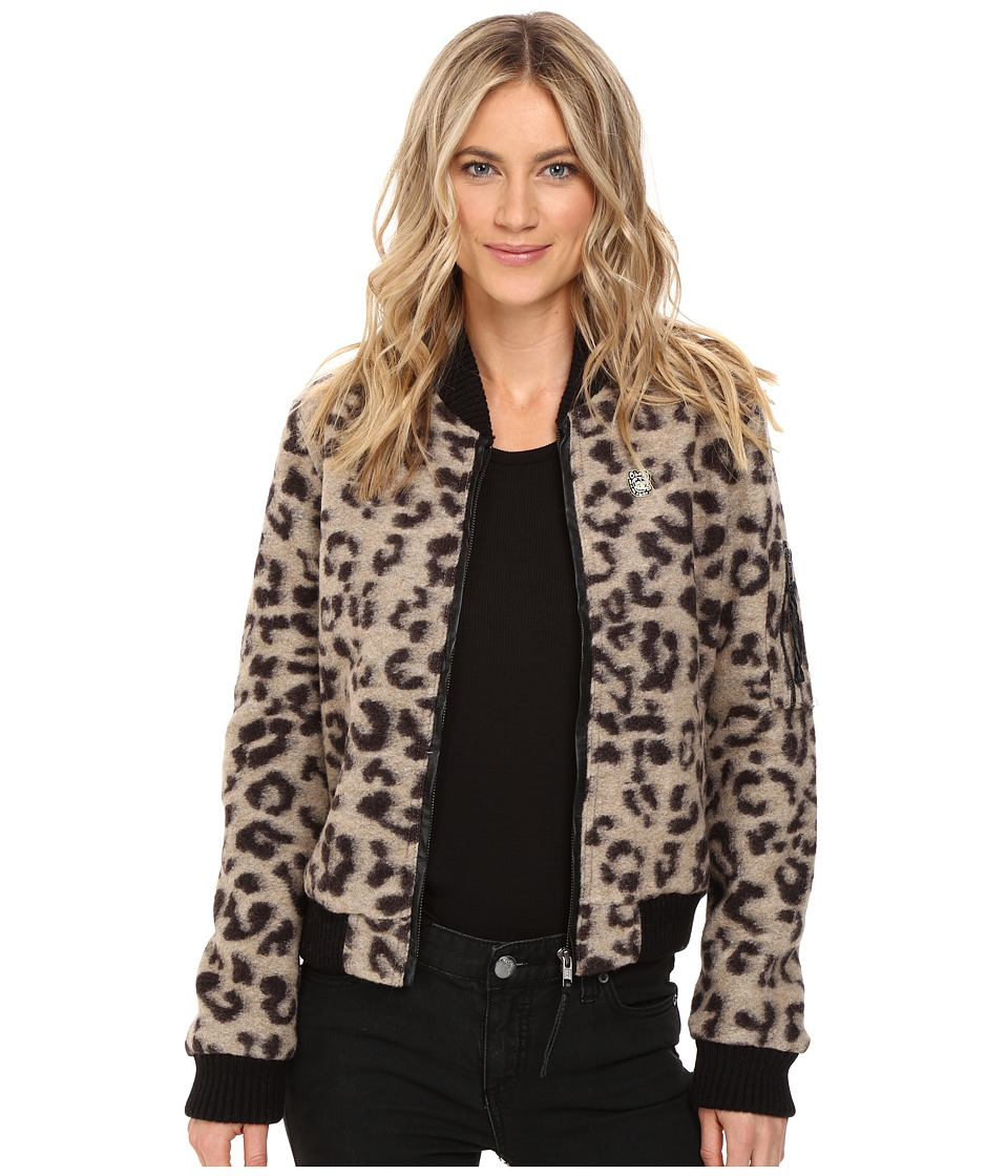 Obey - Karina Bomber Jacket (Leopard) Women's Coat