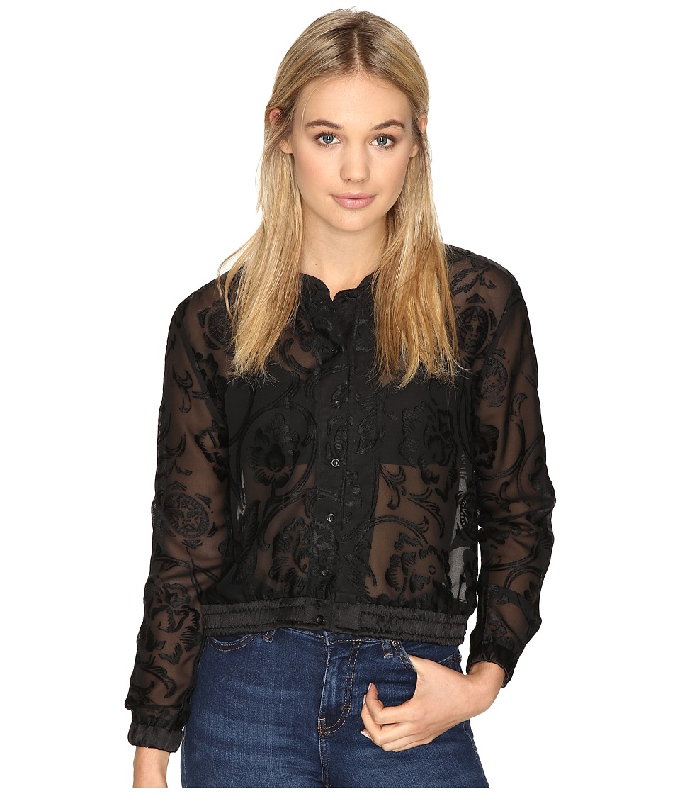 Obey - Amanda Bomber Blouse (Black) Women's Blouse