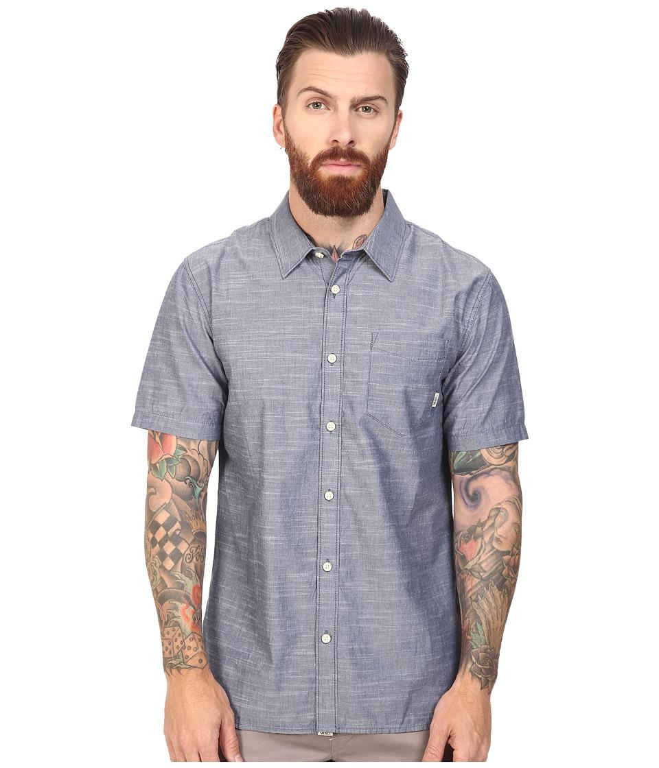 Vans - Norwalk Short Sleeve Woven (Dress Blues) Men's Clothing