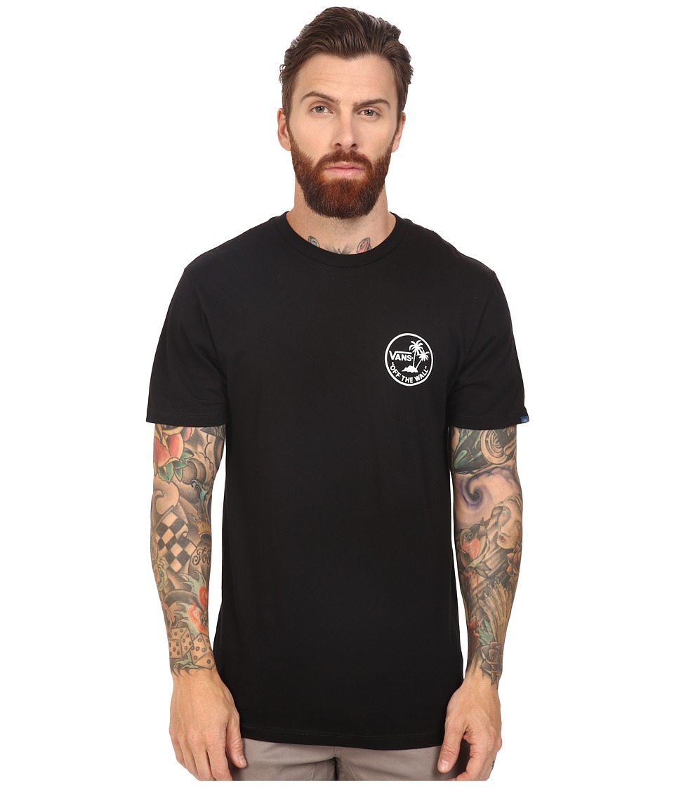 Vans - Mini Dual Palm (Black) Men's Short Sleeve Pullover