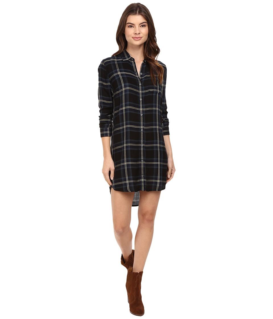 Obey - Ammalyn Shirtdress (Black Multi) Women's Dress