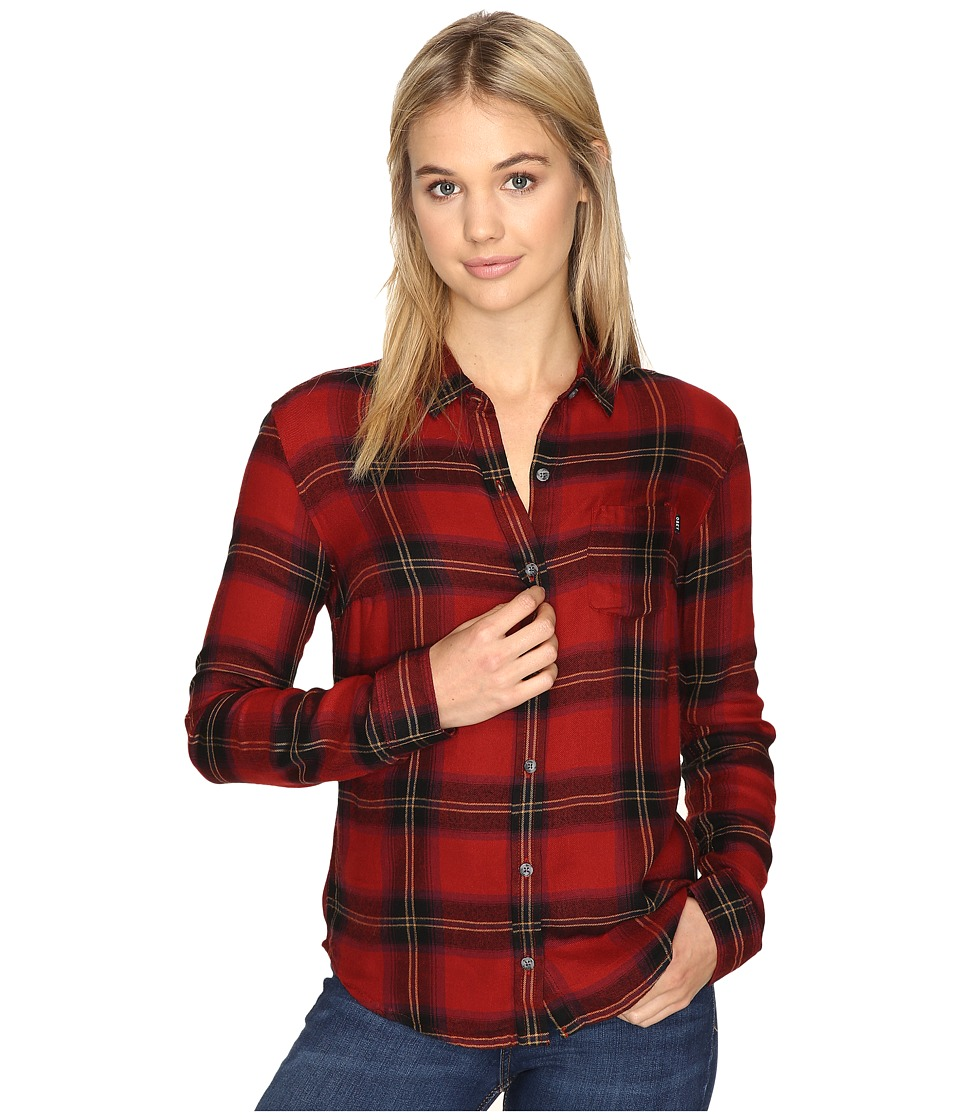 Obey - Ammalyn Button Down (Red Multi) Women's Clothing