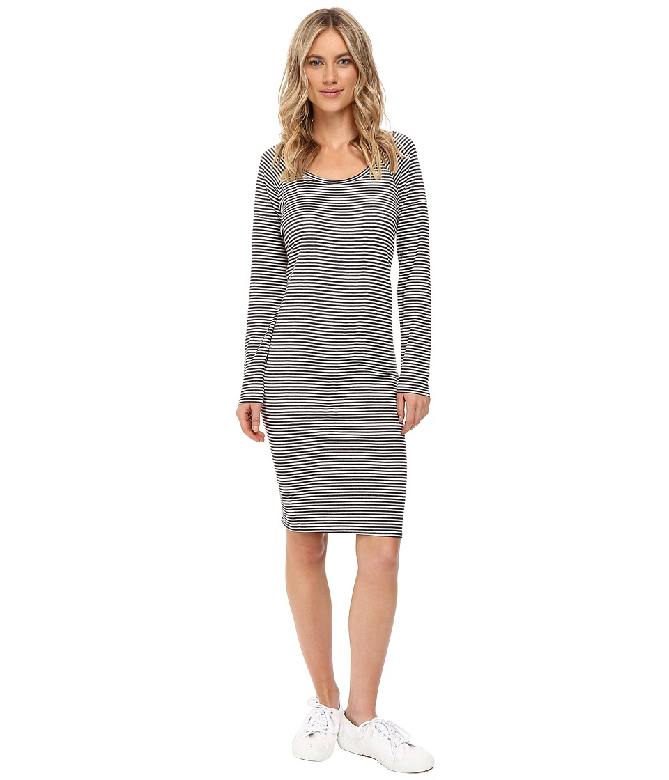 Obey - Riley Raglan Dress (Charcoal Stripe) Women's Dress