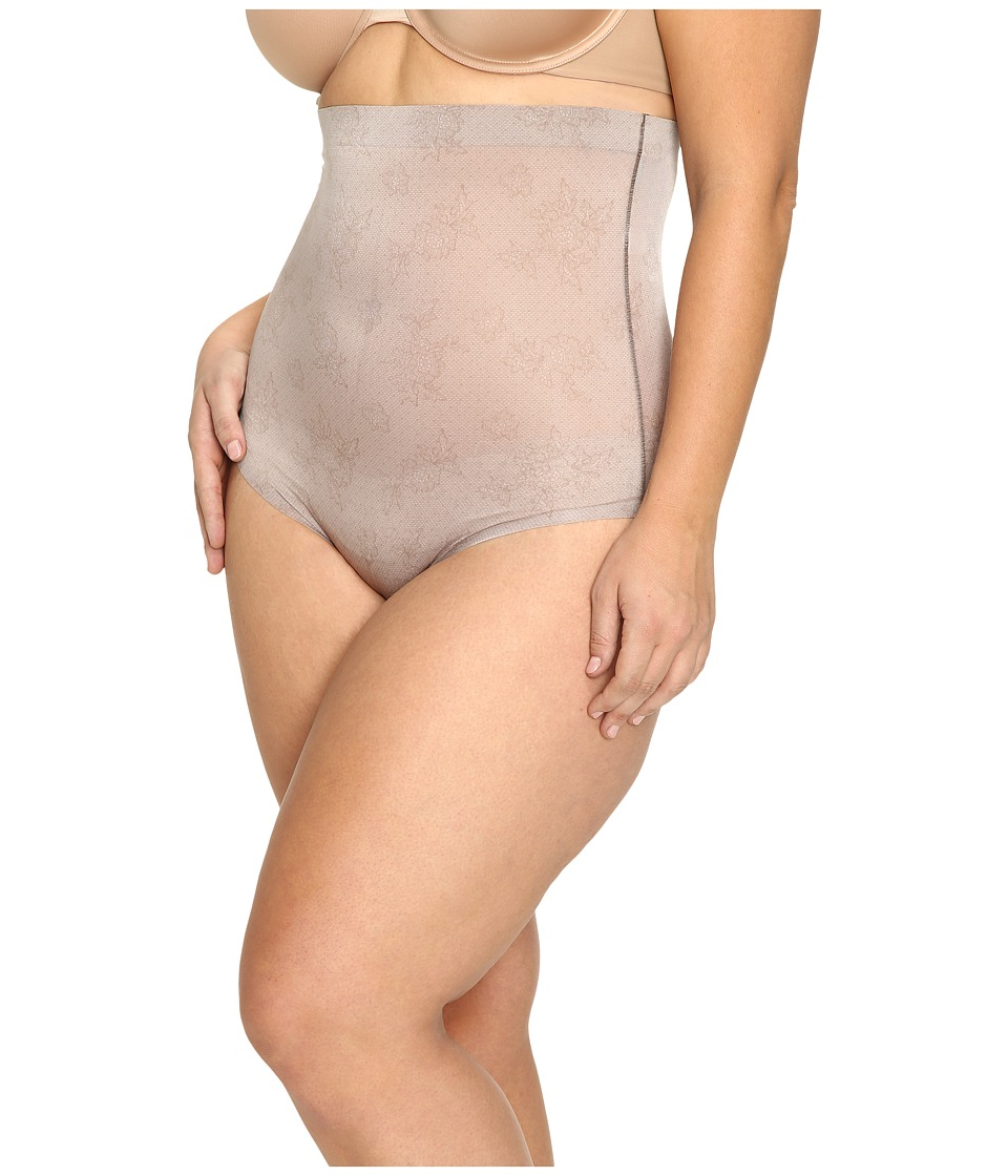 Spanx - Plus Size Pretty Smart High Waisted Brief (Spanx Lace Taupe) Women's Underwear
