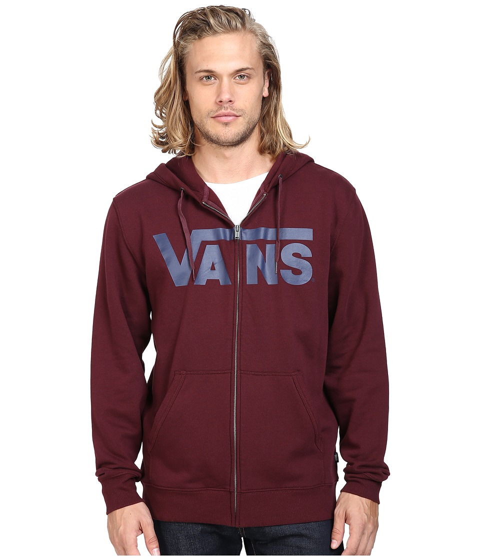 Vans - Classic Zip Hoodie (Port Royale/Dress Blues) Men's Sweatshirt