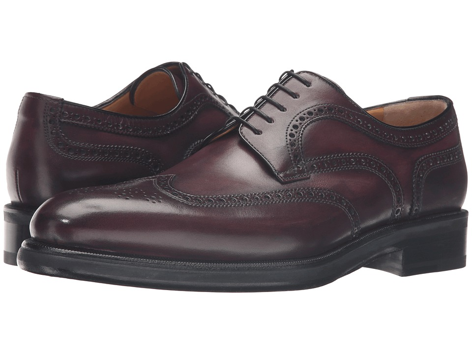 a. testoni - M47222GUM (Burgundy) Men's Lace up casual Shoes