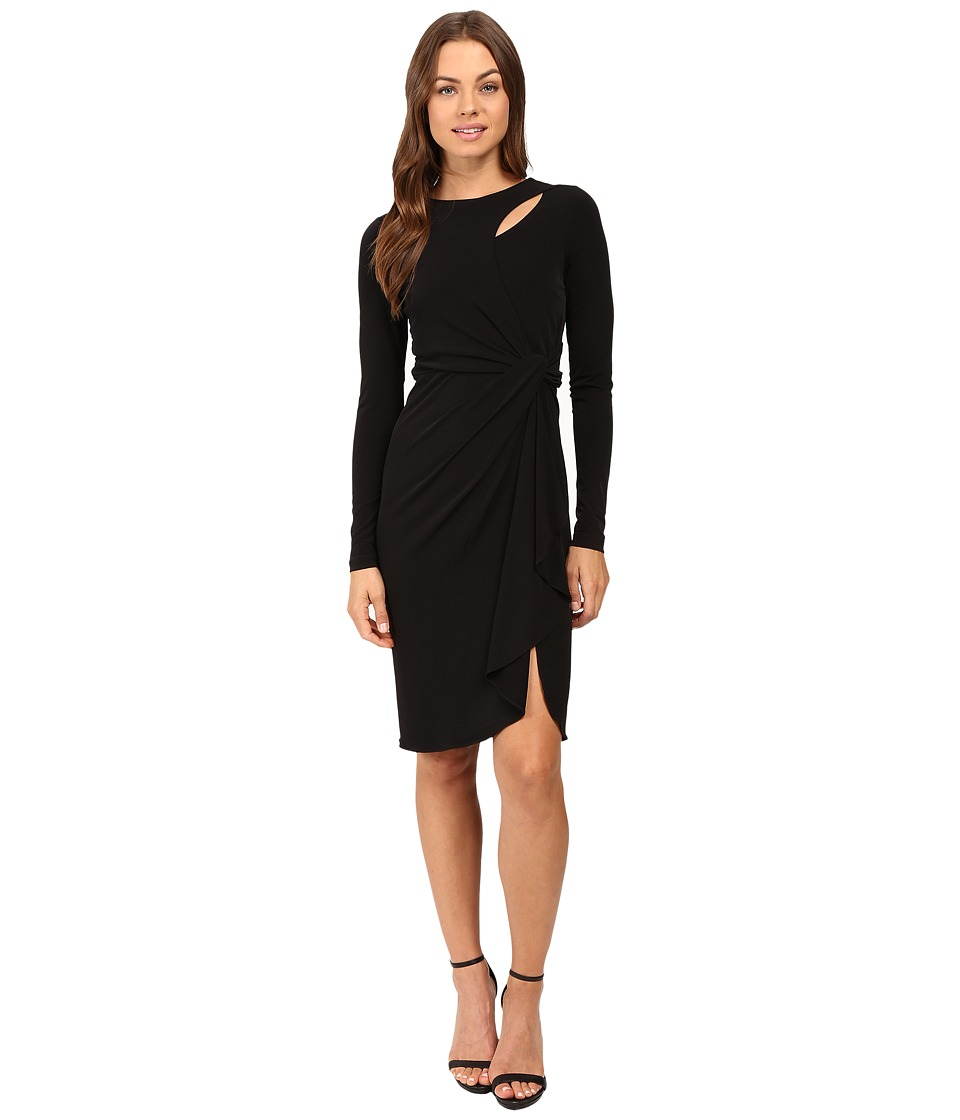 CATHERINE Catherine Malandrino - Long Sleeve Keyhole Dress (Blackbird) Women's Dress