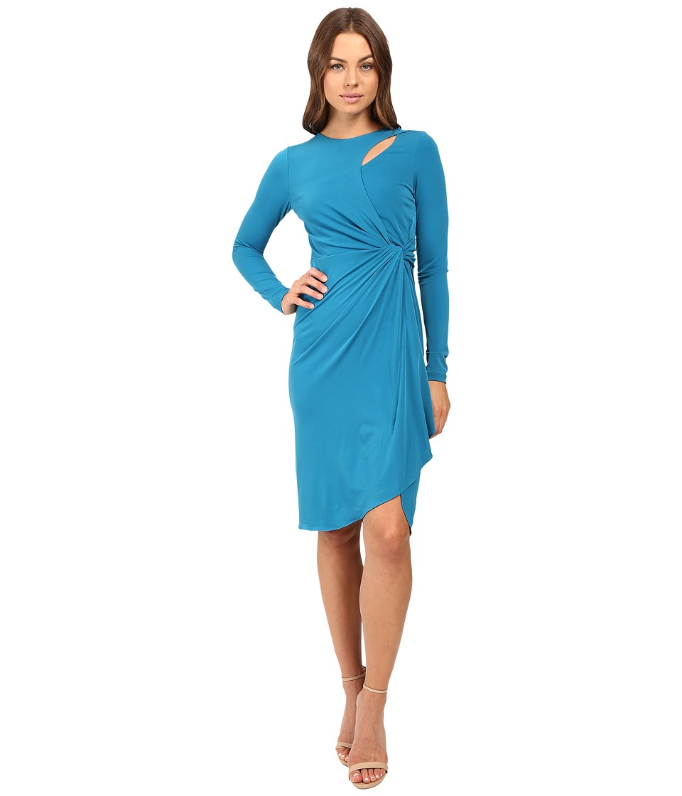 CATHERINE Catherine Malandrino Long Sleeve Keyhole Dress (Ryu Teal) Women
