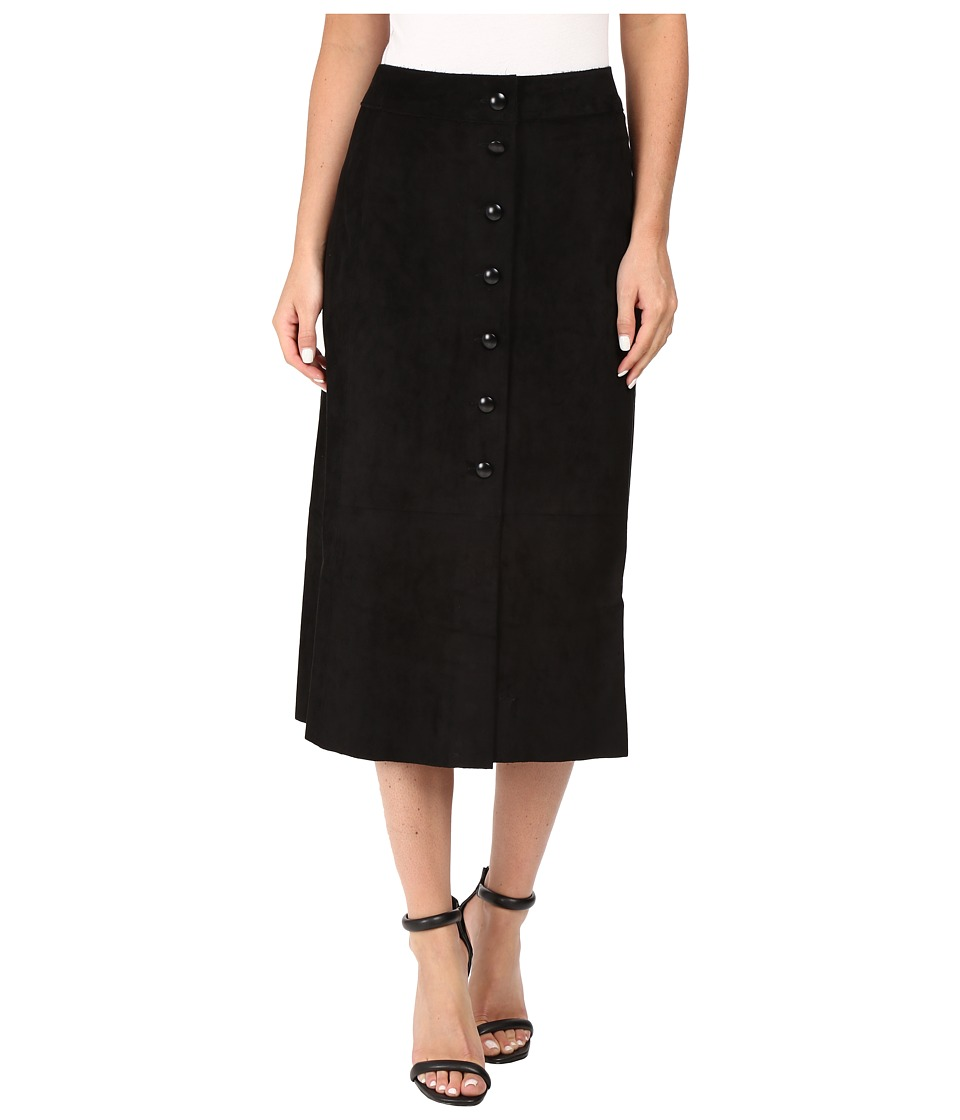 CATHERINE Catherine Malandrino - Button Front Midi Skirt (Blackbird) Women's Skirt