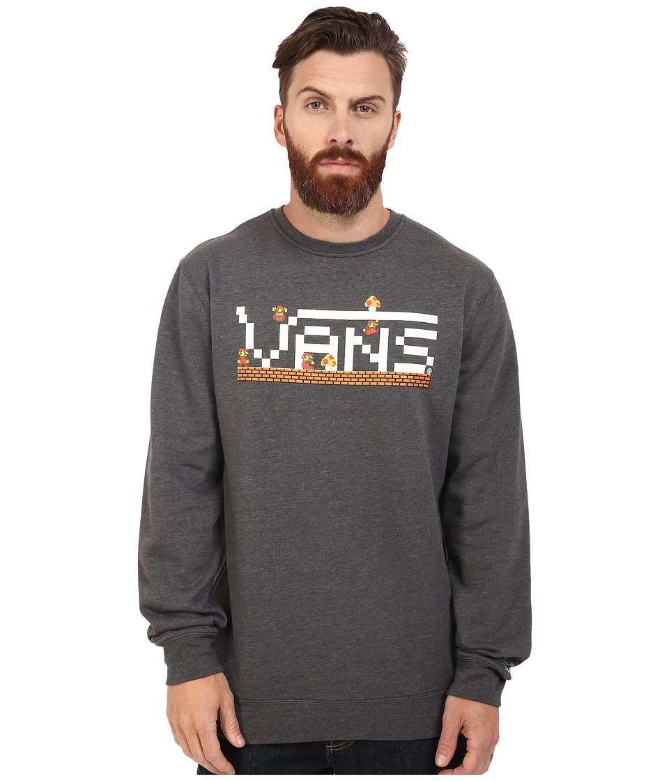 Vans - Nintendo Mario Crew Fleece (Charcoal Heather) Men's Fleece