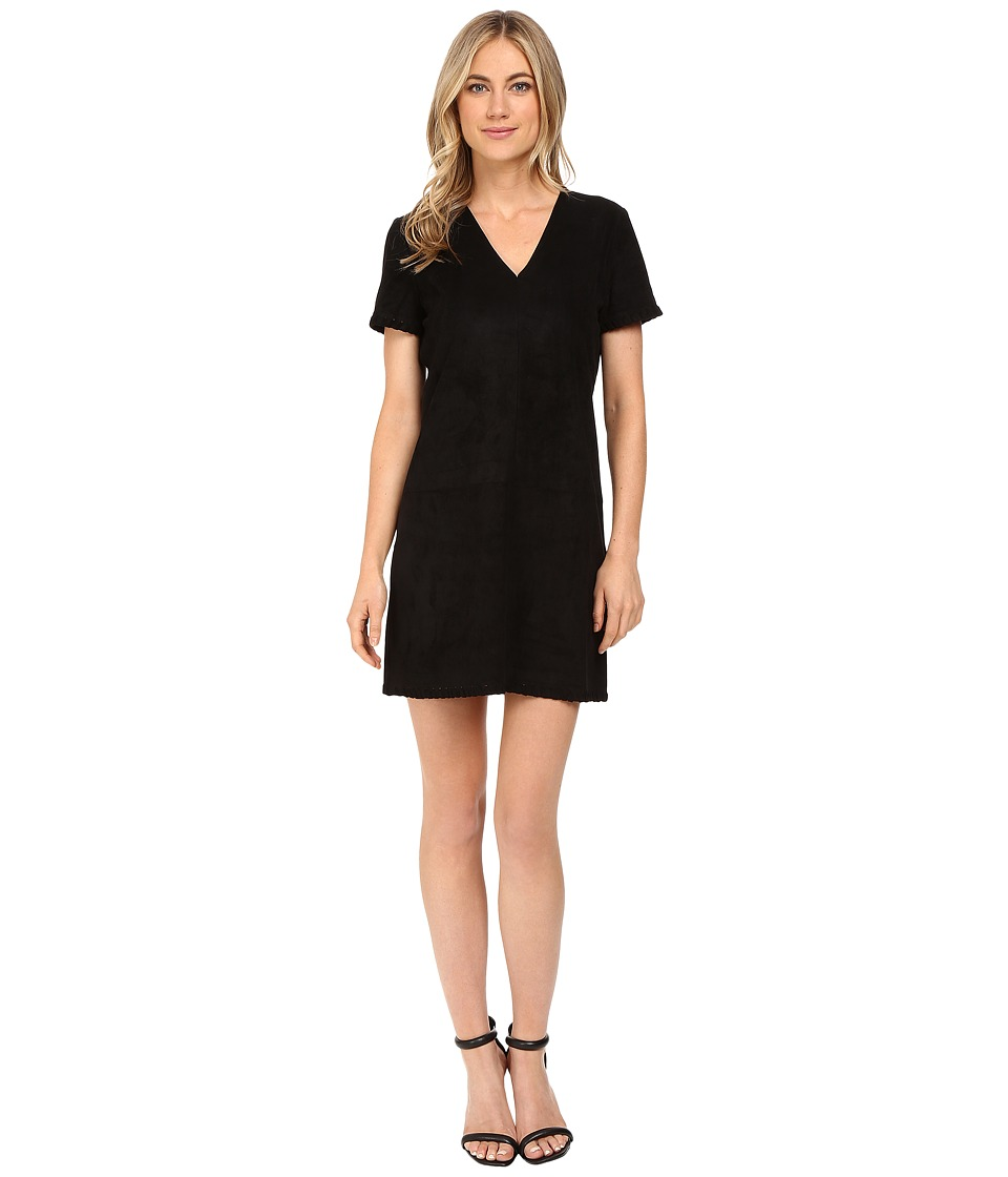 CATHERINE Catherine Malandrino - Sleeveless Suede Shift (Blackbird) Women's Dress
