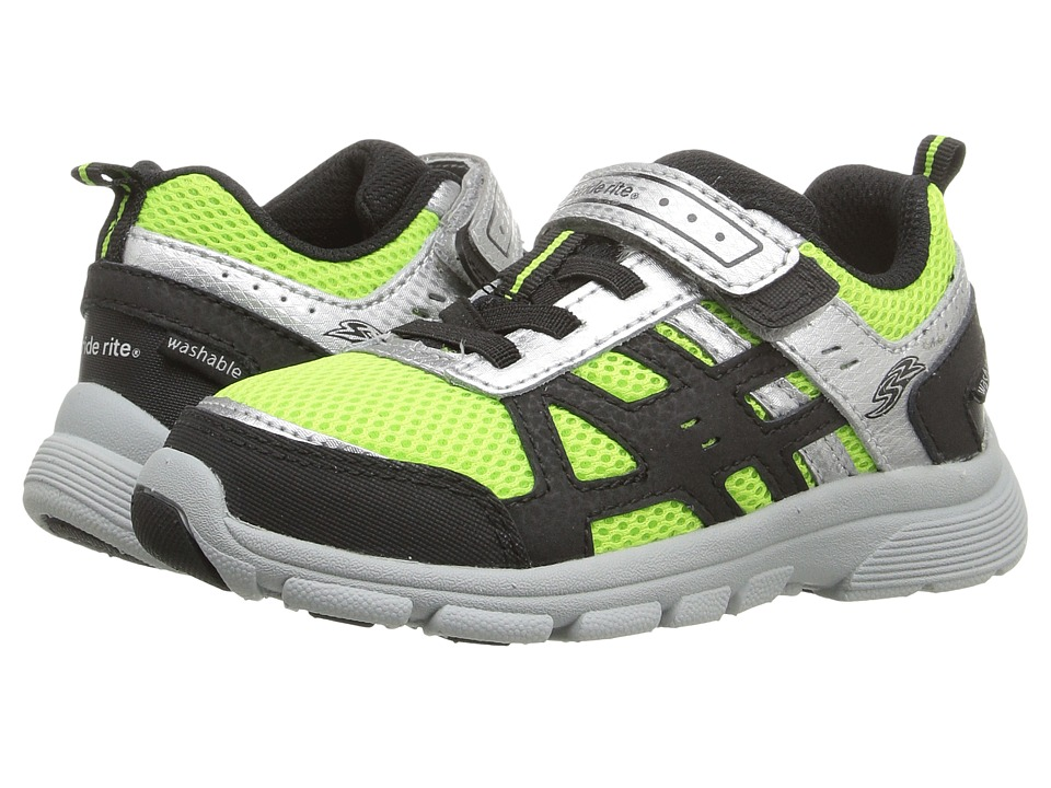Stride Rite - Made 2 Play Witt (Toddler) (Black/Green) Boy's Shoes