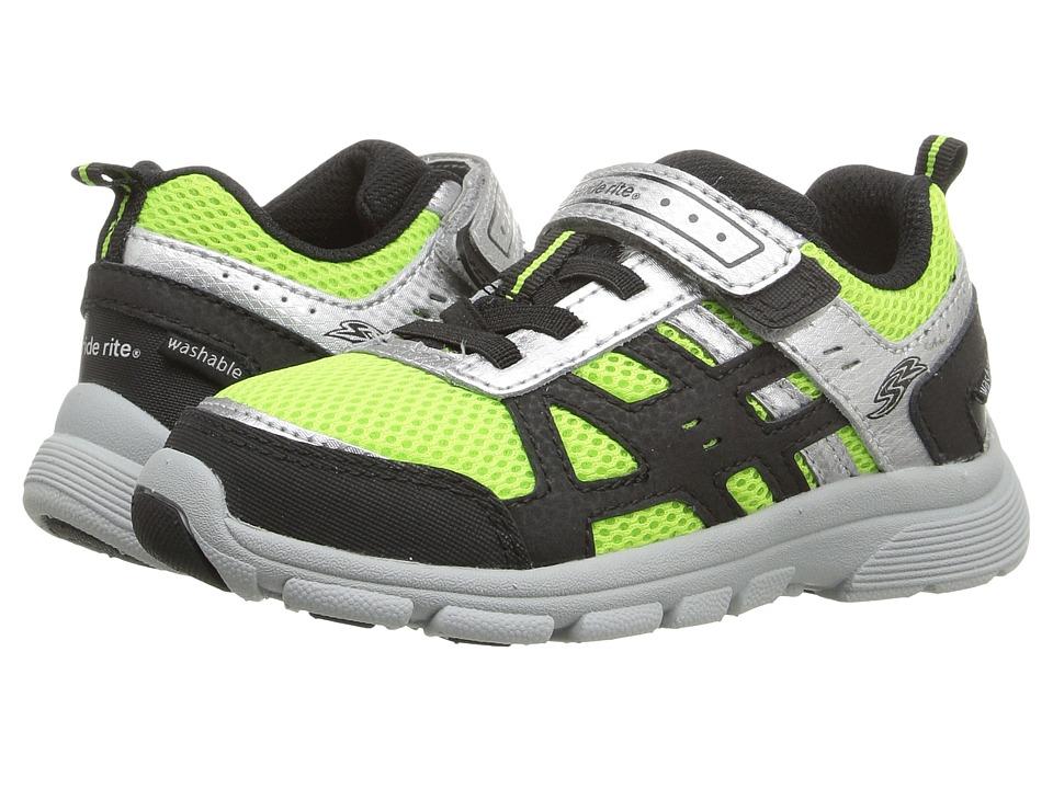 Stride Rite - Made 2 Play Witt (Toddler) (Black/Green) Boy's Shoes