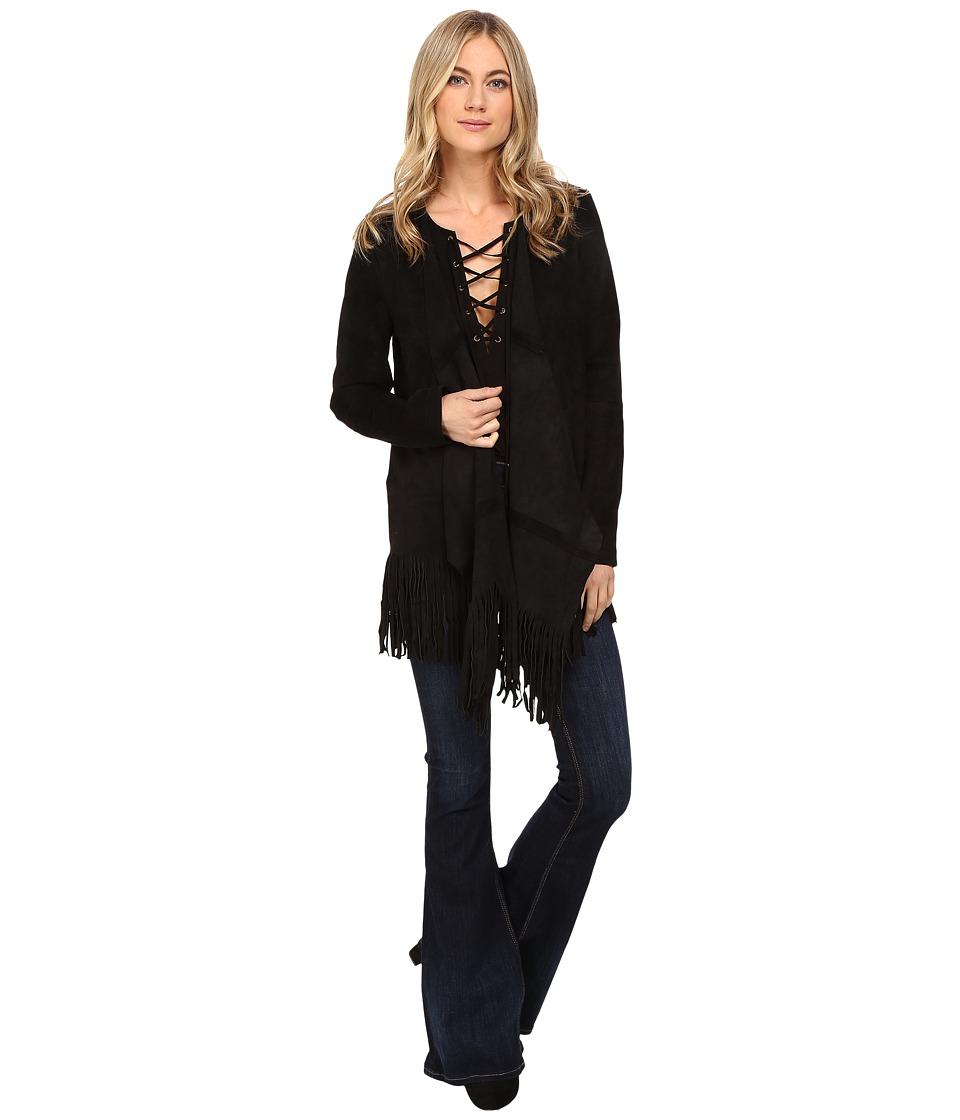 CATHERINE Catherine Malandrino - Fringe Jacket (Blackbird) Women's Coat