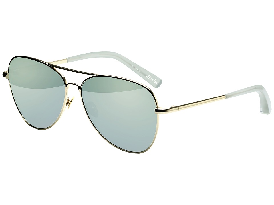 Elizabeth and James - Stanton (Light Gold/Aqua Mirror) Fashion Sunglasses