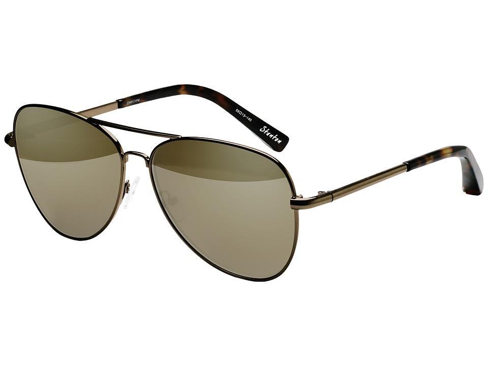 Elizabeth and James - Stanton (Champagne/Champagne Mirror) Fashion Sunglasses