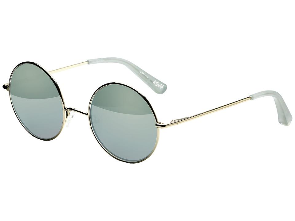 Elizabeth and James - Mott (Light Gold/Aqua Mirror) Fashion Sunglasses