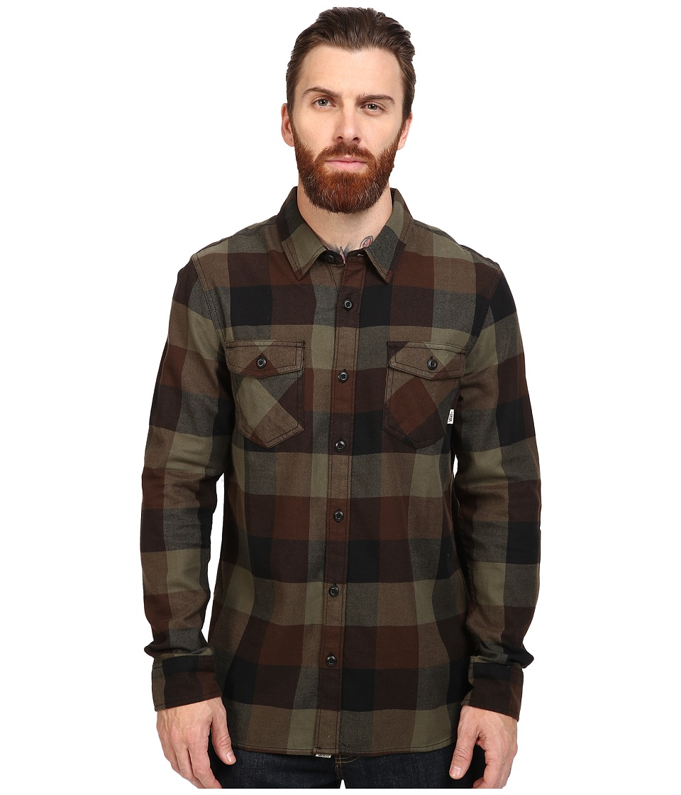 Vans - Box Long Sleeve Flannel (Grape Leaf/Demitasse) Men's Clothing