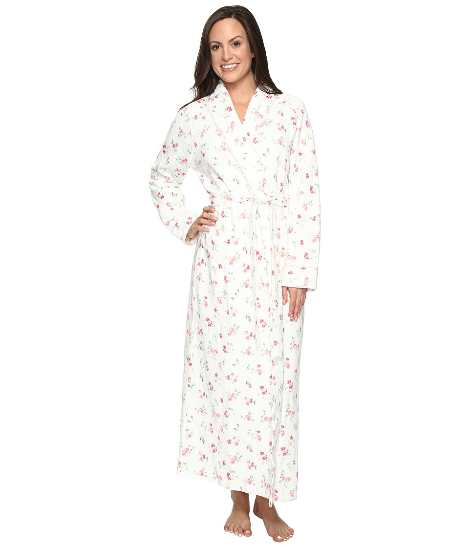 Carole Hochman - Diamond Quilted Long Robe (Holiday Bouquet Twin) Women's Robe