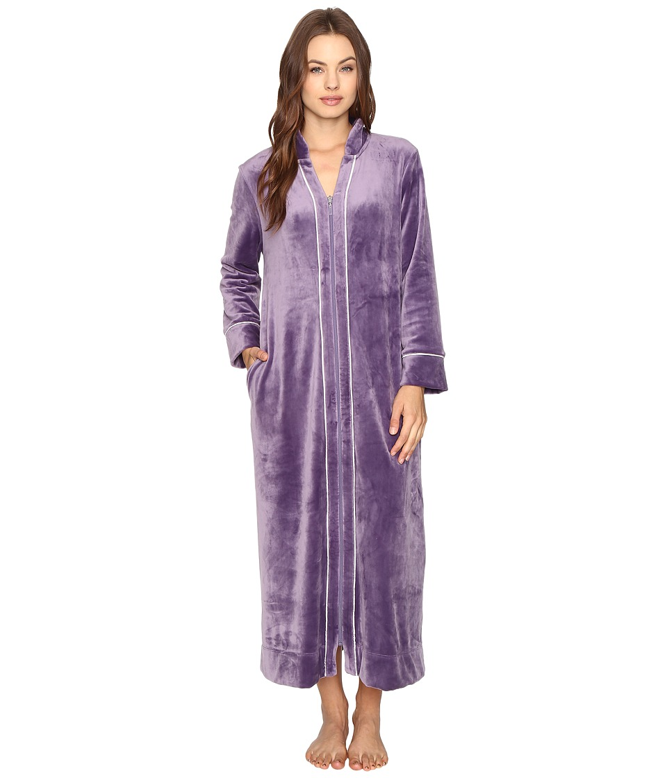 Carole Hochman - Velour Zip Robe (Purple) Women's Robe