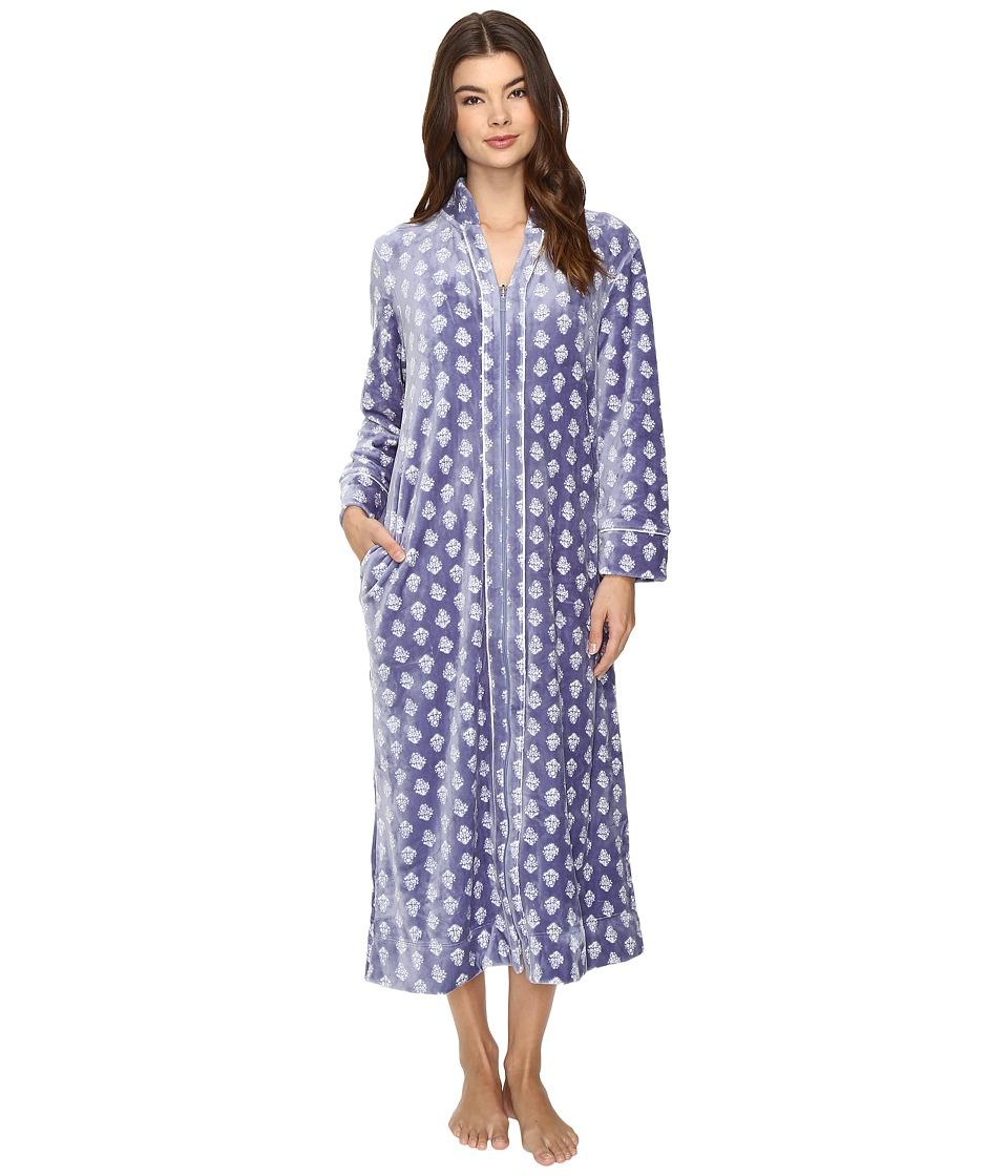 Carole Hochman - Velour Zip Robe (Lounge Foulard) Women's Robe