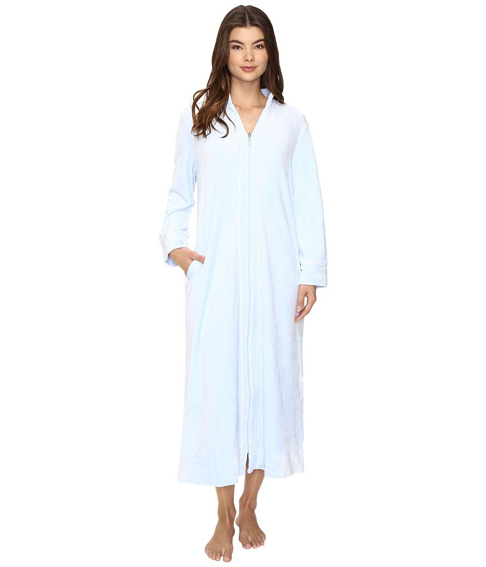 Carole Hochman - Velour Zip Robe (Light Blue) Women's Robe