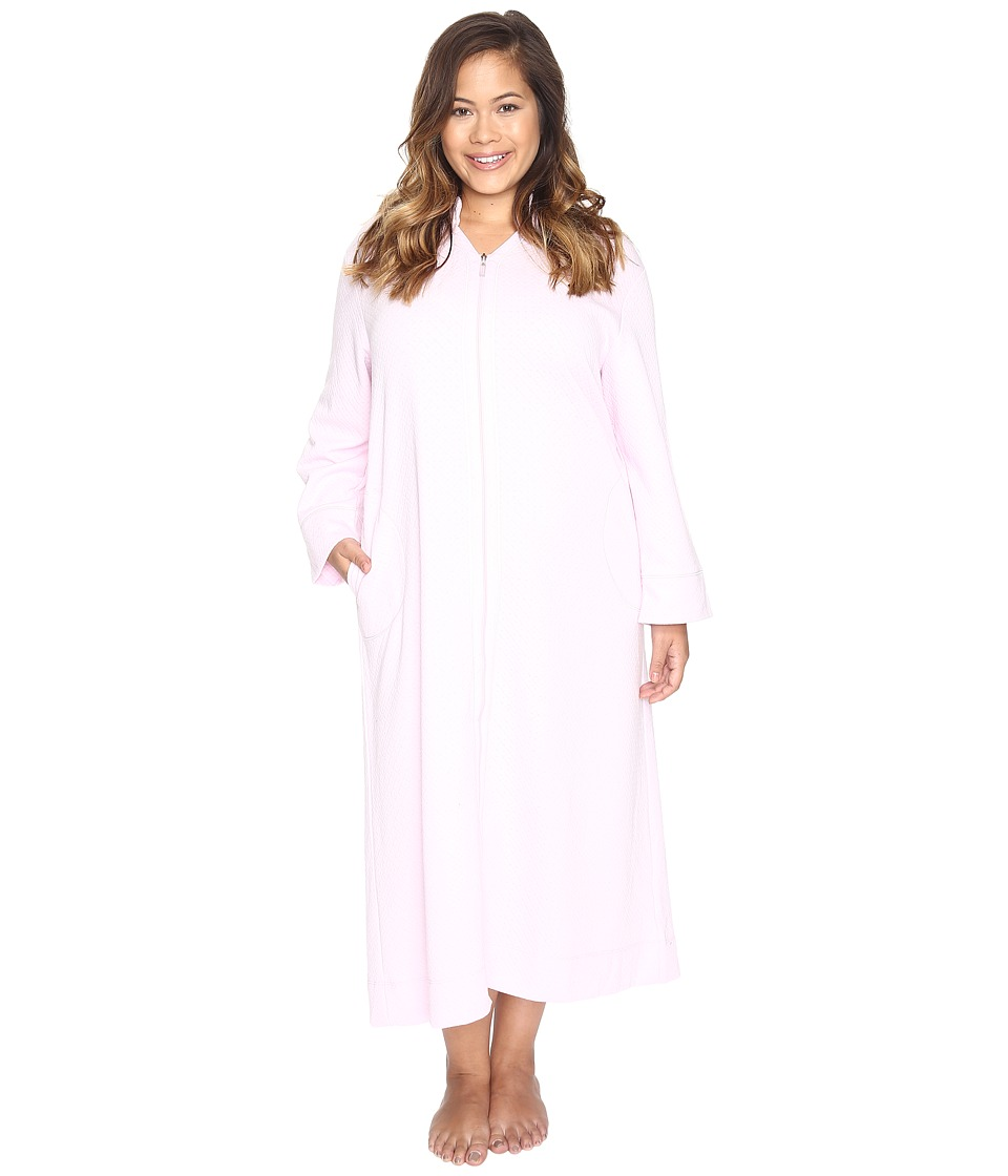 Carole Hochman - Plus Size Quilted Zip Robe (Lilac) Women's Robe