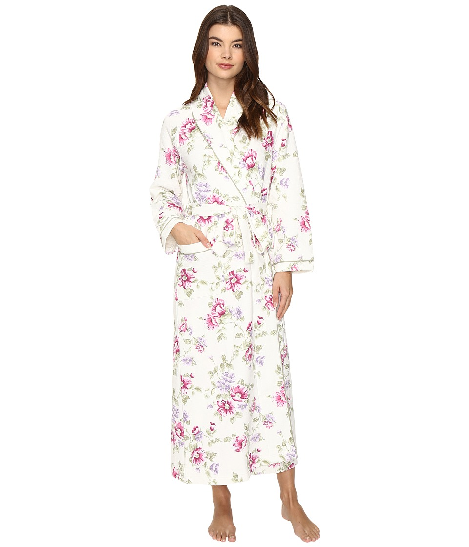 Carole Hochman - Diamond Quilted Long Robe (Blooming Garden) Women's Robe