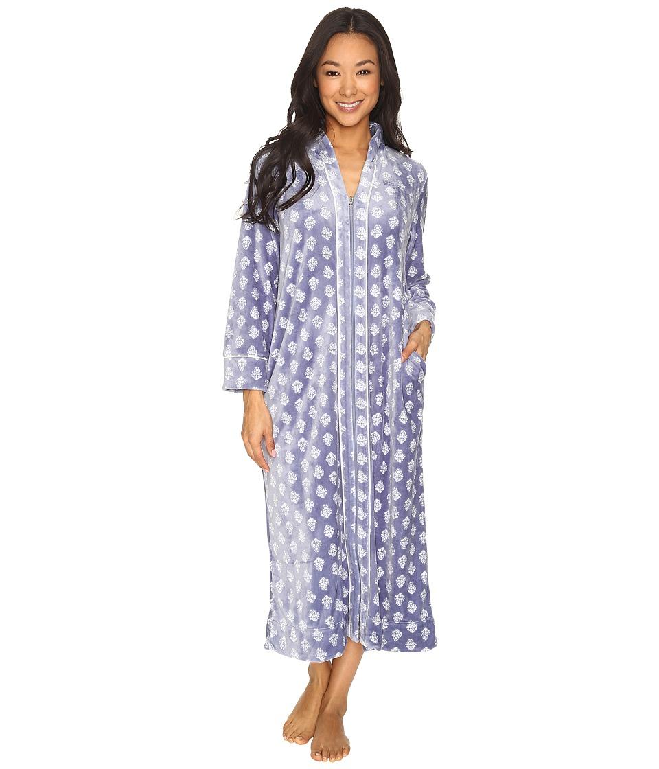 Carole Hochman - Petite Velour Zip Robe (Lounge Foulard) Women's Robe
