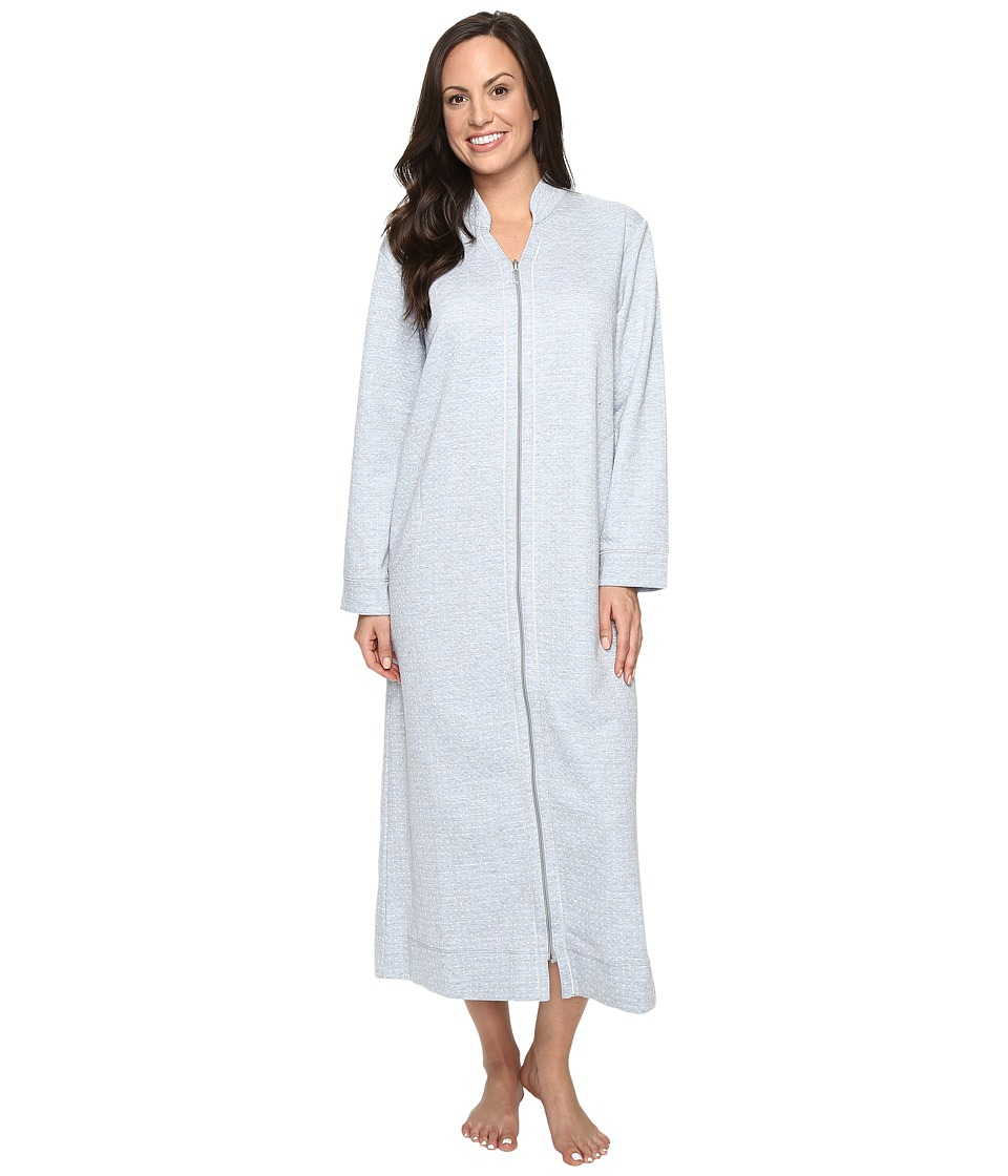 Carole Hochman - Quilted Zip Robe (Grey Heather) Women's Robe