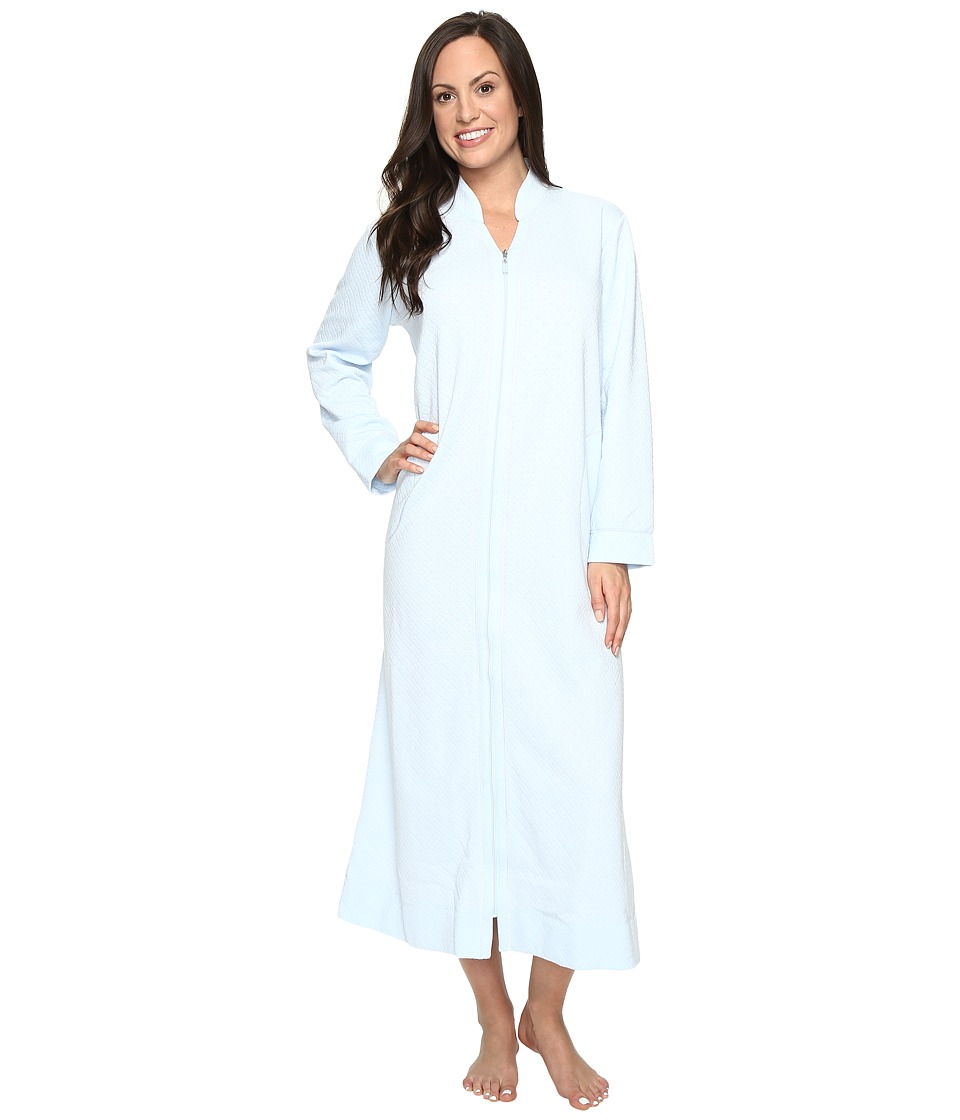 Carole Hochman - Quilted Zip Robe (Light Blue) Women's Robe