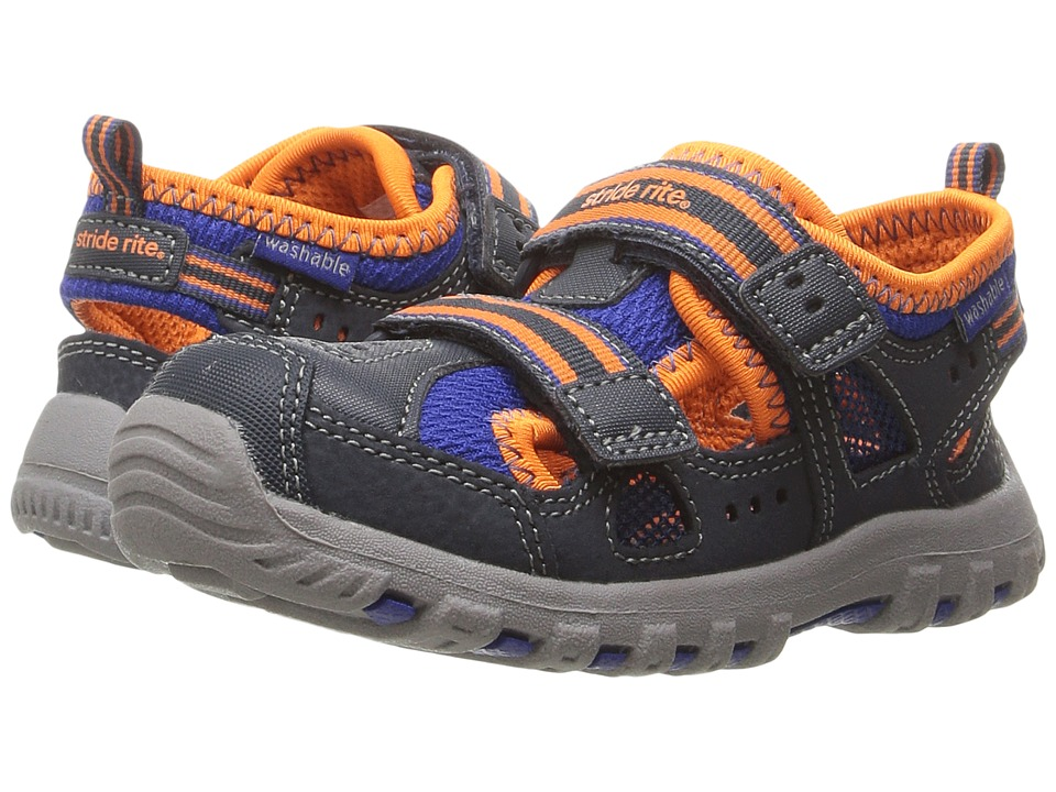 Stride Rite - Made 2 Play Thatcher (Toddler) (Navy/Orange) Boy's Shoes