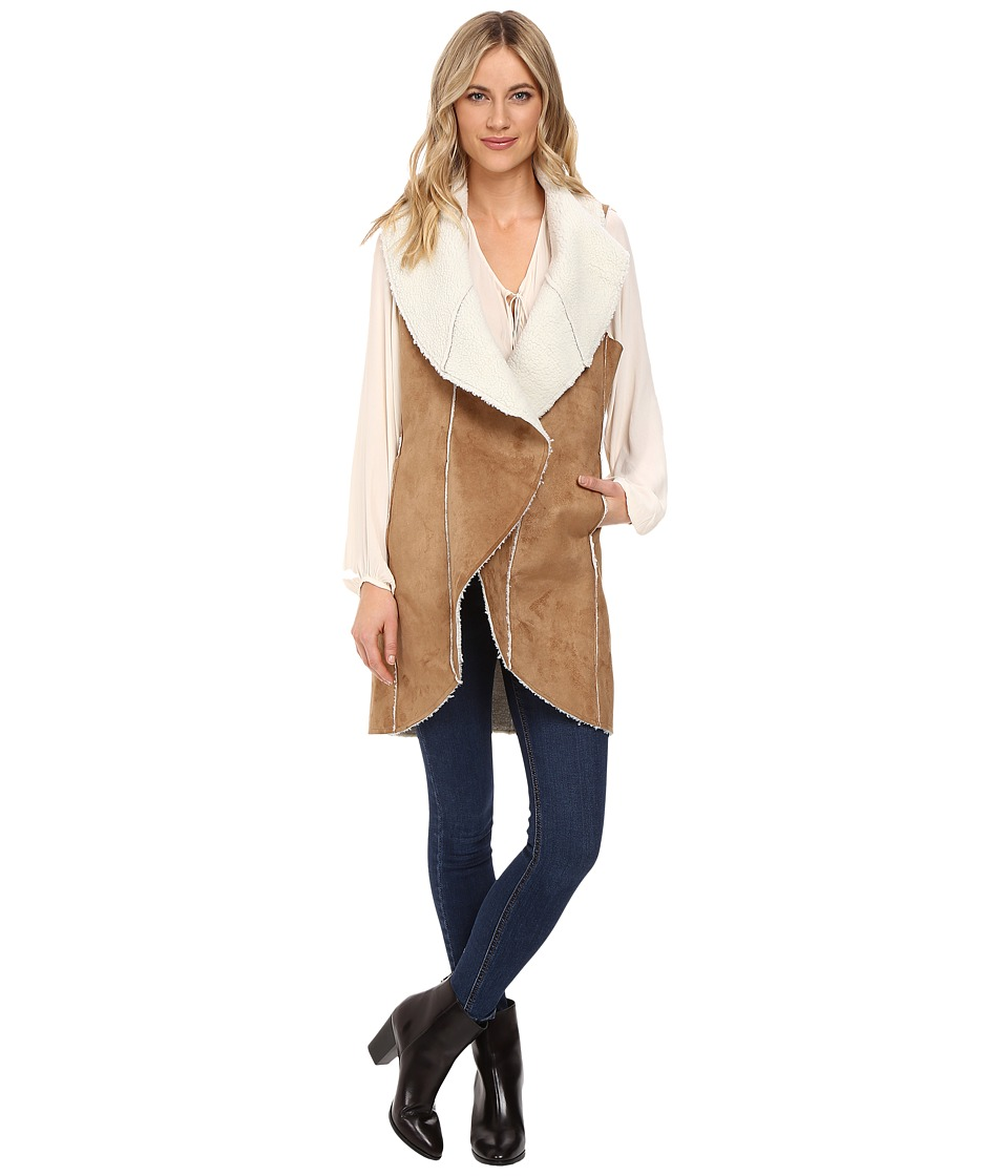 CATHERINE Catherine Malandrino - Faux Sherling Vest (Khaki) Women's Vest