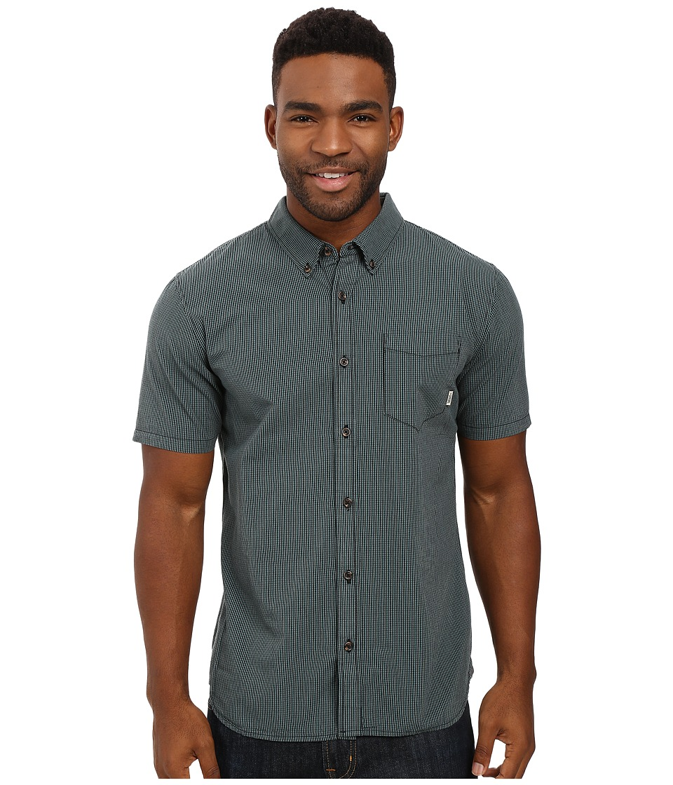Vans - Pearce Short Sleeve Woven (Black/North Atlantic) Men's Clothing