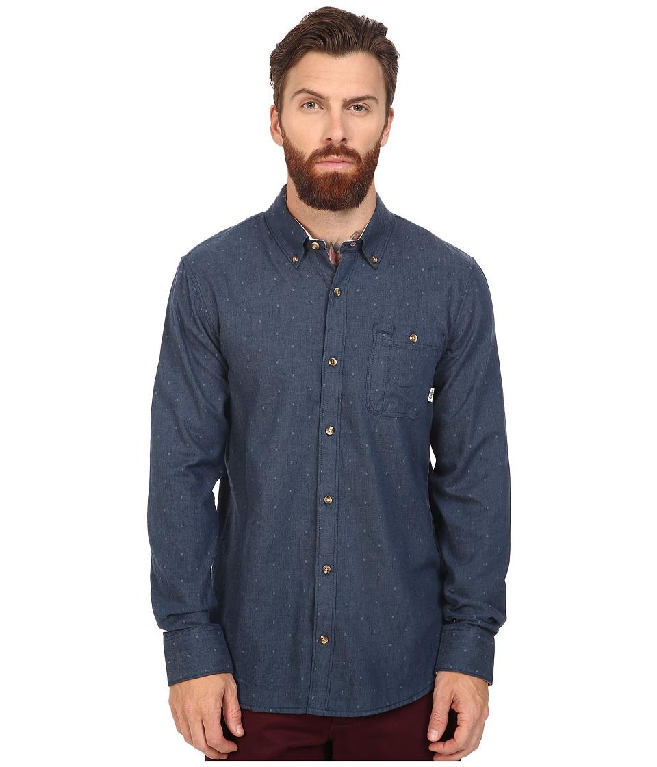 Vans - Gisler II Long Sleeve Woven (Dress Blues) Men's Clothing